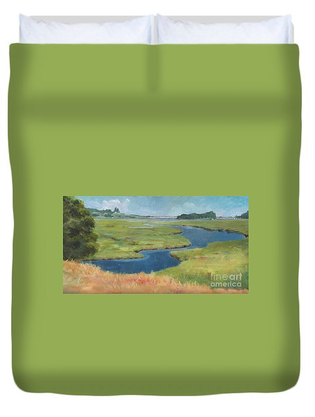 Marshes At High Tide Duvet Cover
