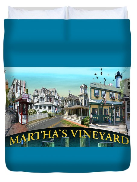 Martha's Vineyard Collage Duvet Cover by Gerry Robins