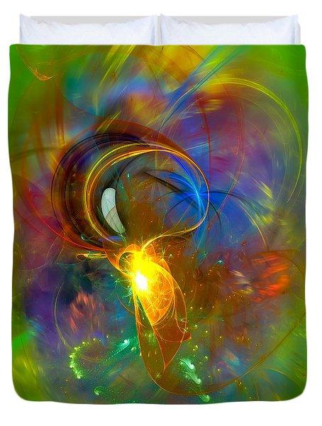 Martian Dance - Cool Alien Art Duvet Cover