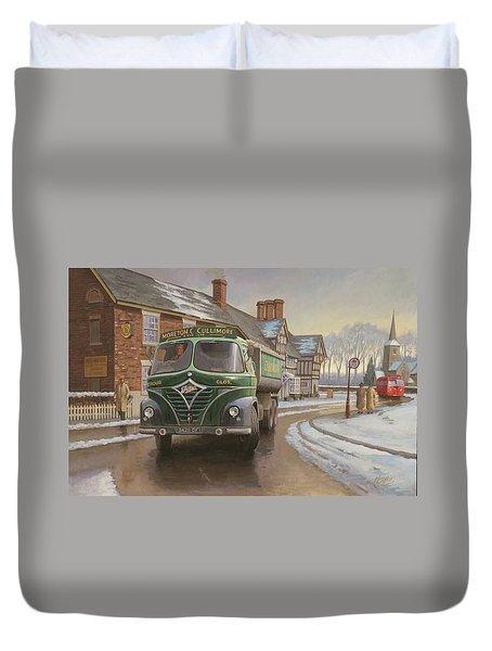 Martin C. Cullimore Tipper. Duvet Cover by Mike  Jeffries