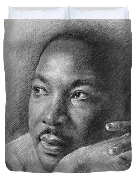 Martin Luther King Jr Duvet Cover by Ylli Haruni