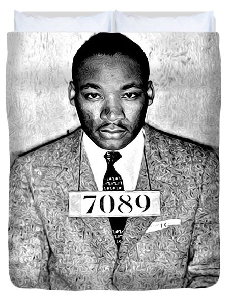 Martin Luther King Mugshot Duvet Cover by Bill Cannon
