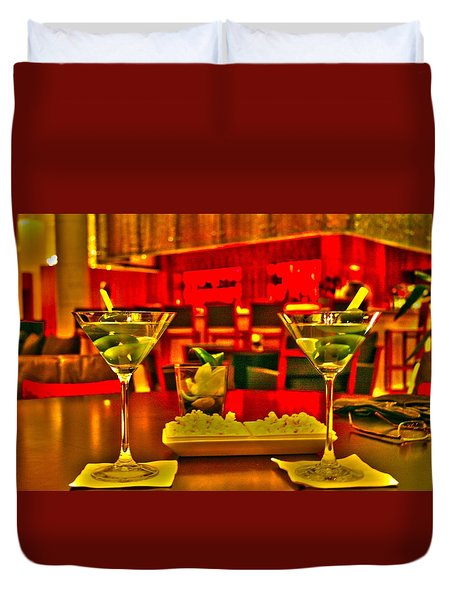 Martini Time Duvet Cover