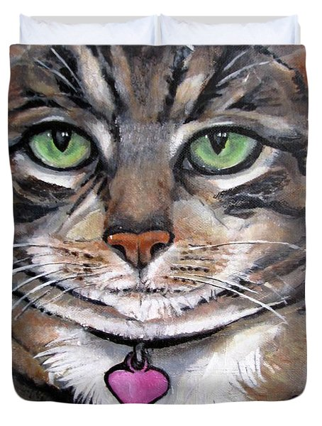 Marvelous Minnie The Gallery Cat Duvet Cover