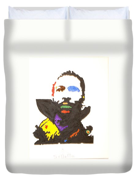 Duvet Cover featuring the painting Marvin Gaye by Stormm Bradshaw