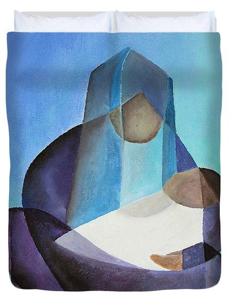Mary And Messiah Duvet Cover