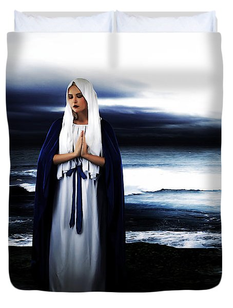 Mary By The Sea Duvet Cover
