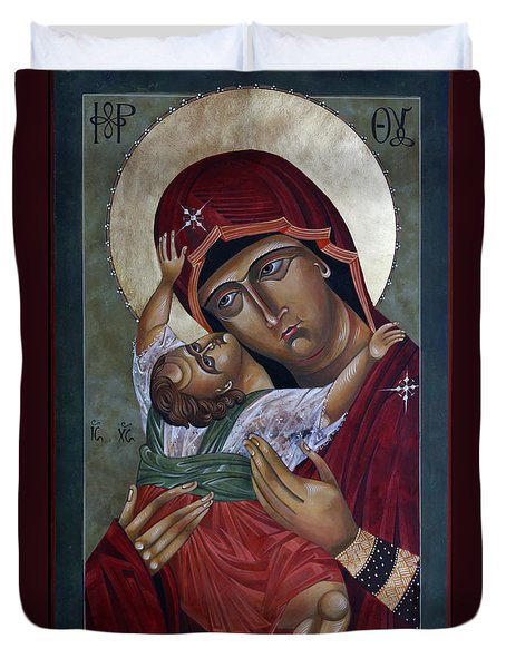 Mary Kadiotissa Duvet Cover by Mary jane Miller
