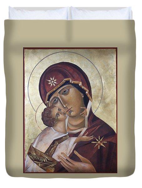 Mary Of Valdamir Duvet Cover by Mary jane Miller