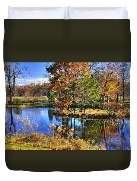Maryland Country Roads - Autumn Respite No. 1 - Stronghold Sugarloaf Mountain Frederick County Md Duvet Cover