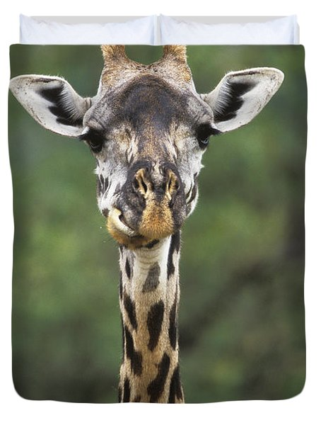 Masai Giraffe Serengeti Np Duvet Cover