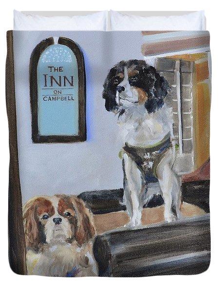 Mascots Of The Inn Duvet Cover by Donna Tuten