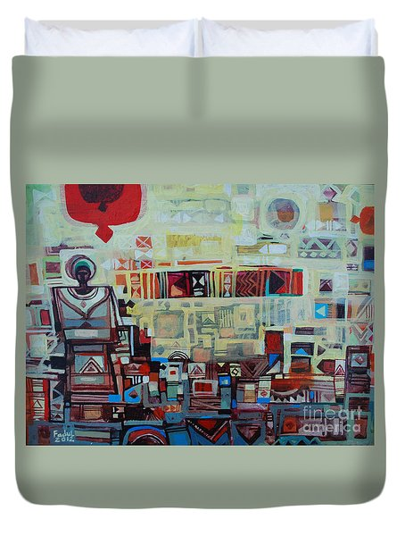 Maseed Maseed 2 Duvet Cover by Mohamed Fadul