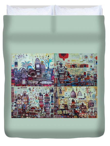 Maseed Maseed 3 Duvet Cover by Mohamed Fadul