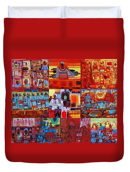 Maseed Maseed 4 Duvet Cover by Mohamed Fadul