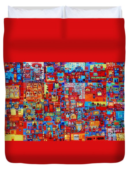 Maseed Maseed Duvet Cover by Mohamed Fadul