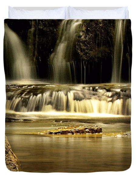Mash Fork Falls Duvet Cover by Melissa Petrey