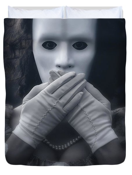 Masked Woman Duvet Cover by Joana Kruse