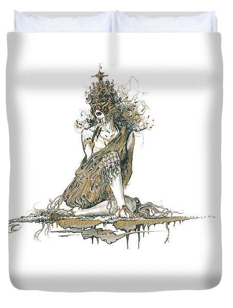 Wanita Duvet Cover by Julio Lopez