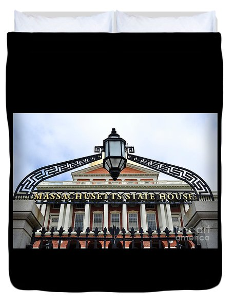Massachusetts State House Duvet Cover