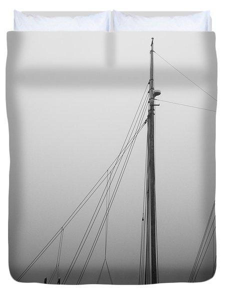 Mast And Rigging Duvet Cover by Bob Orsillo
