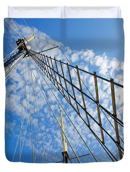 Duvet Cover featuring the photograph Masted Sky by Keith Armstrong