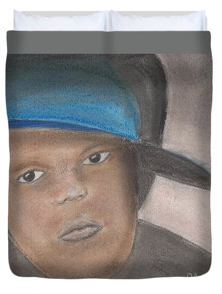 Duvet Cover featuring the pastel Master Guy by David Jackson