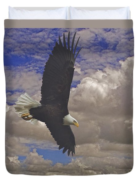 Master In Flight - Signed  Duvet Cover by J L Woody Wooden