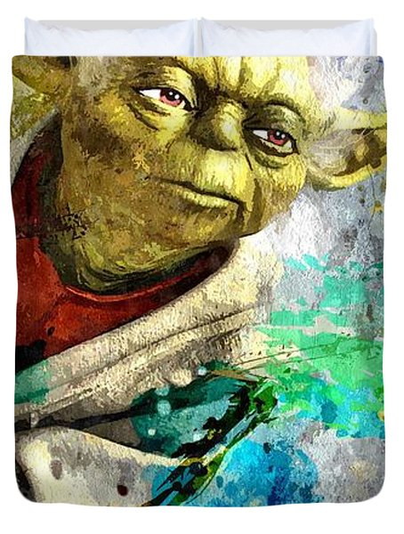 Master Yoda Duvet Cover by Daniel Janda