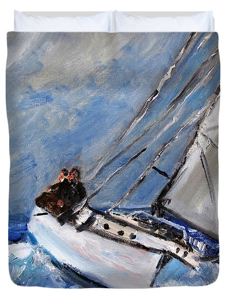 Mastering The Wind Duvet Cover