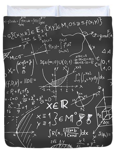 Maths Blackboard Duvet Cover