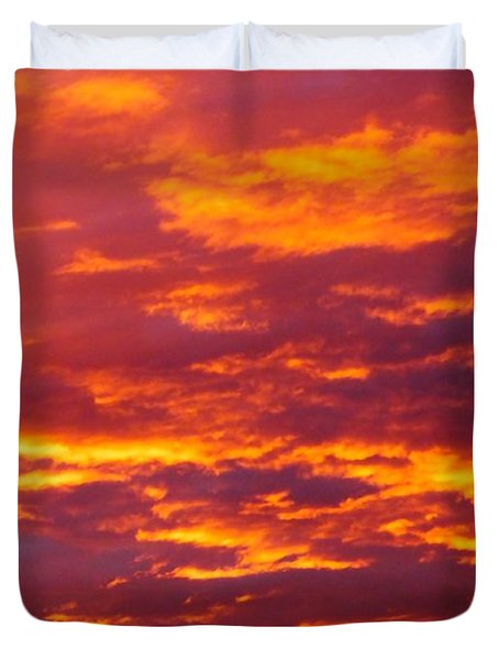 Duvet Cover featuring the photograph Matin De Feu by Marc Philippe Joly