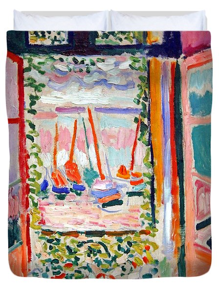 Matisse's Open Window At Collioure Duvet Cover