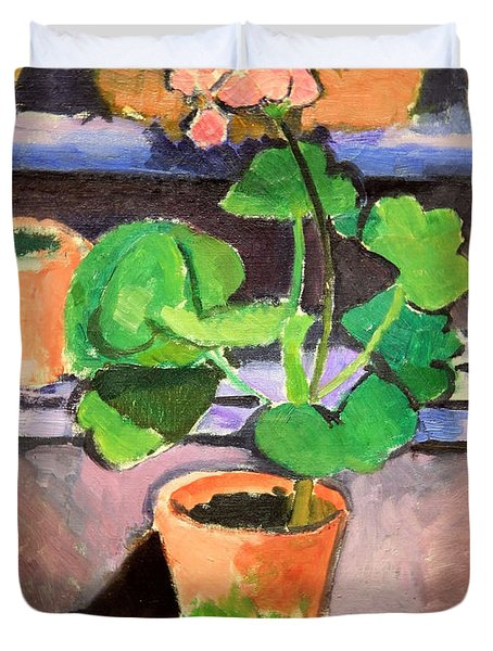 Matisse's Pot Of Geraniums Duvet Cover