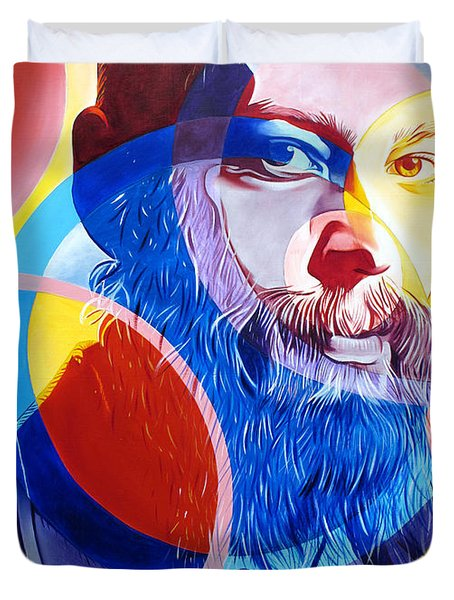 Matisyahu In Circles Duvet Cover by Joshua Morton