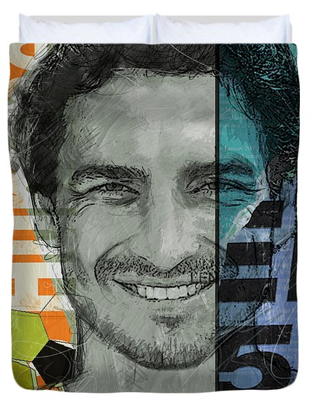 Mats Hummels - B Duvet Cover by Corporate Art Task Force