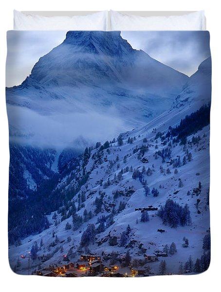 Matterhorn At Twilight Duvet Cover