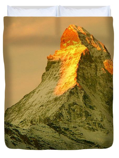 Matterhorn In Switzerland Duvet Cover