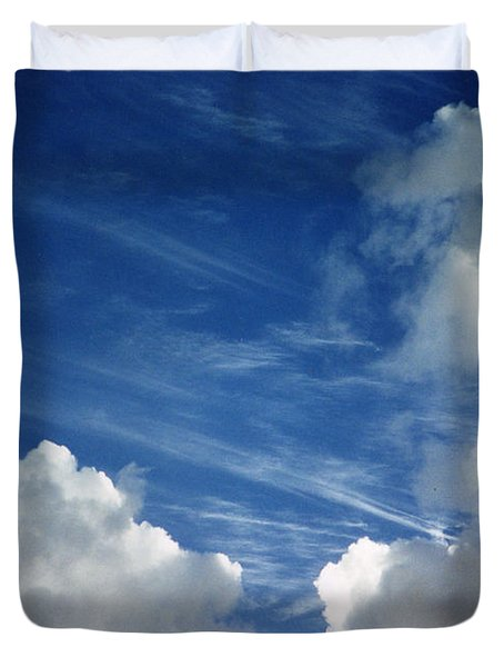 Maui Clouds Duvet Cover by Evelyn Tambour