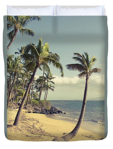 Duvet Cover featuring the photograph Maui Lu Beach Hawaii by Sharon Mau