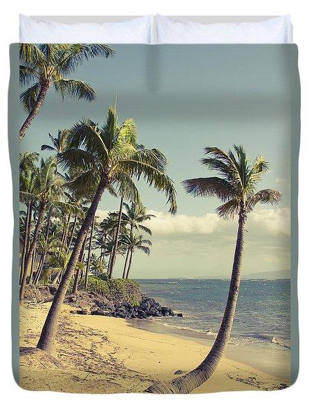 Duvet Cover featuring the photograph Maui Lu Beach Hawaii by Sharon Mau