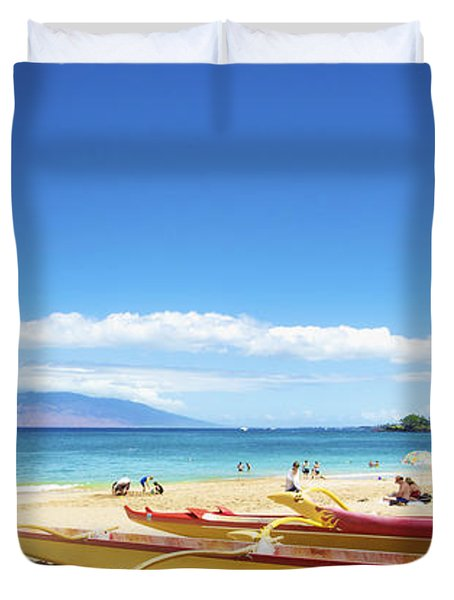 Maui Outriggers Duvet Cover by Kicka Witte