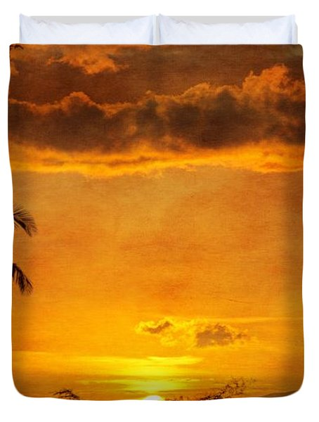 Maui Sunset Dream Duvet Cover