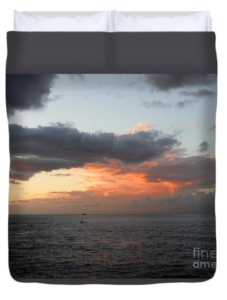Maui Sunset Duvet Cover by Fred Wilson