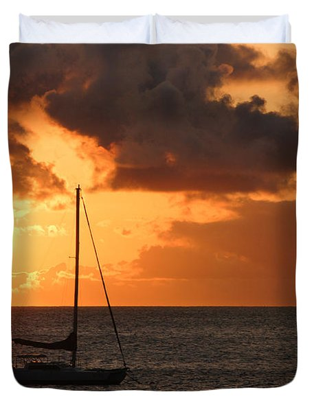 Maui Sunset Duvet Cover