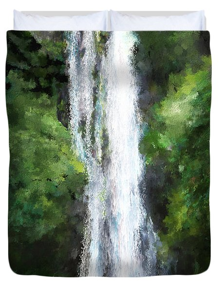 Maui Waterfall Duvet Cover