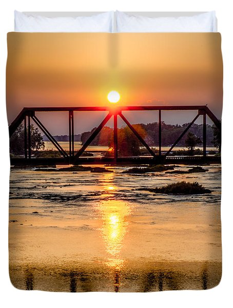 Maumee River At Grand Rapids Ohio Duvet Cover