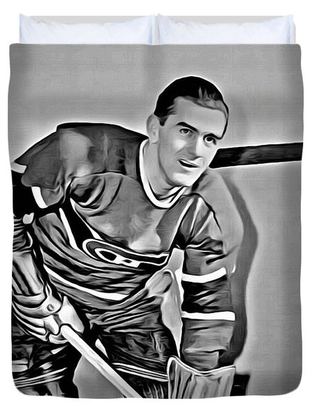 Maurice Richard Duvet Cover by Florian Rodarte
