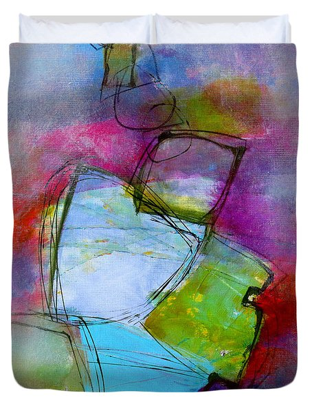 Duvet Cover featuring the painting Maverick by Katie Black