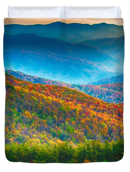 Max Patch Bald Fall Colors Duvet Cover